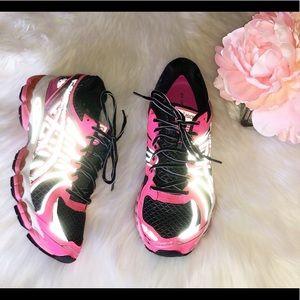ASICS Gel Nimbus 15 Neon Pink and Black Sneakers